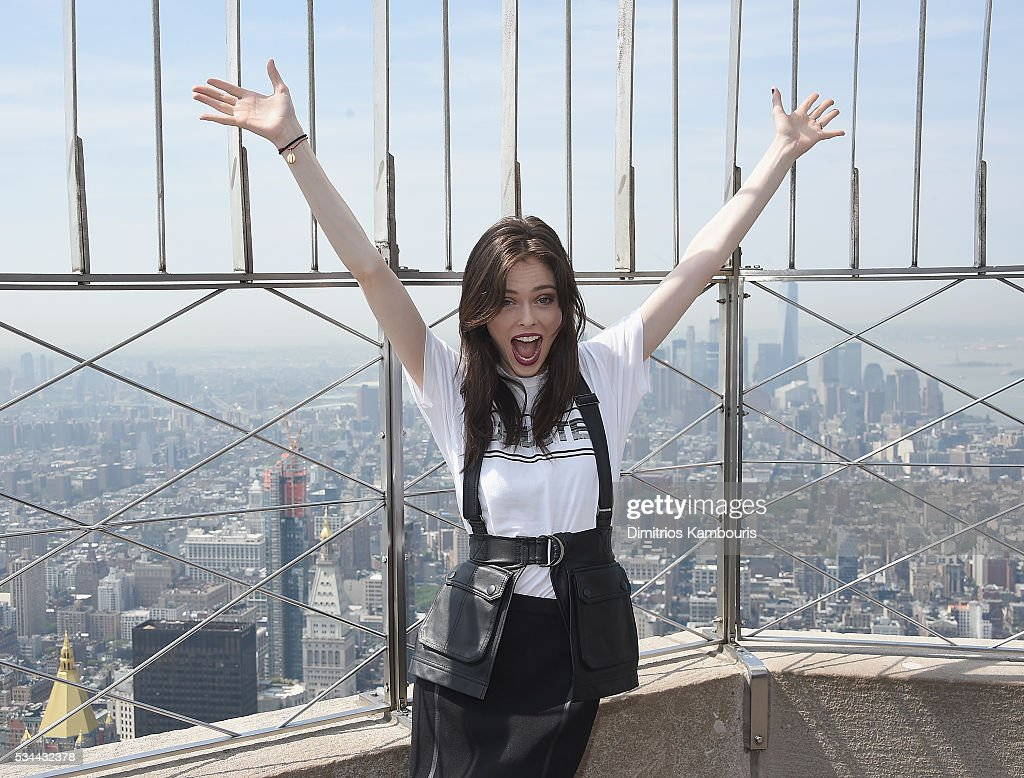 Model <a gi-track='captionPersonalityLinkClicked' href=/galleries/search?phrase=Coco+Rocha&family=editorial&specificpeople=4172514 ng-click='$event.stopPropagation()'>Coco Rocha</a> lights The Empire State Building In Honor Of World Blood Day at The Empire State Building on May 26, 2016 in New York City.