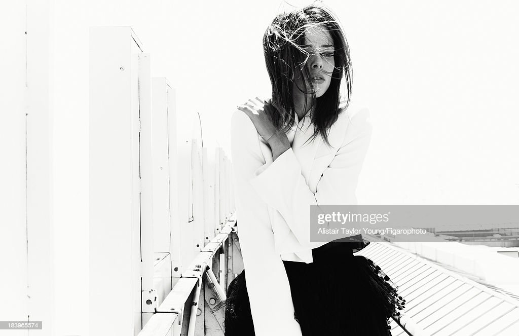 107230-014. Model Coco Rocha poses at a fashion shoot for Madame Figaro on July 19, 2013 in Paris, France. All (Chloe). PUBLISHED IMAGE.