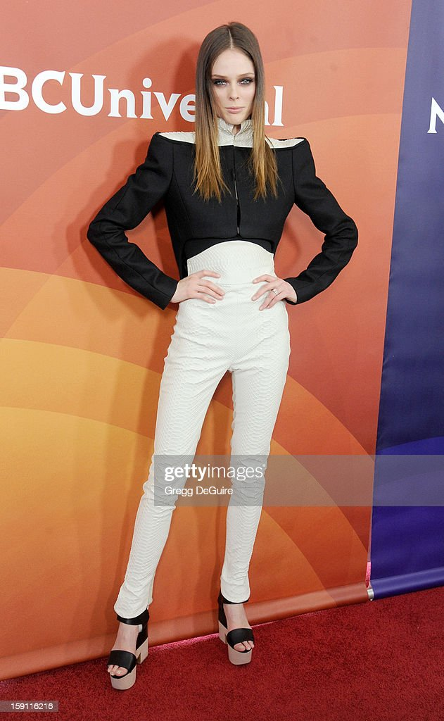 Model Coco Rocha poses at the 2013 NBC Universal TCA Winter Press Tour Day 2 at The Langham Huntington Hotel and Spa on January 7, 2013 in Pasadena, California.