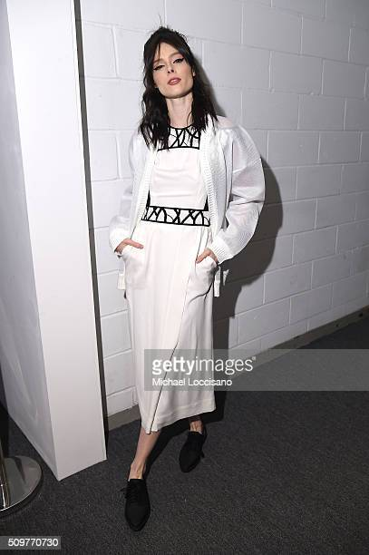 Model Coco Rocha poses during New York Fashion Week The Shows at XX on February 12 2016 in New York City