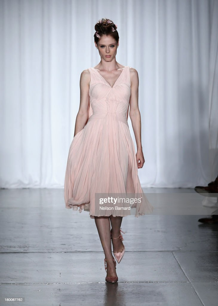 Model <a gi-track='captionPersonalityLinkClicked' href=/galleries/search?phrase=Coco+Rocha&family=editorial&specificpeople=4172514 ng-click='$event.stopPropagation()'>Coco Rocha</a> walks the runway at the Zac Posen fashion show during Mercedes-Benz Fashion Week Spring 2014 at Center 548 on September 8, 2013 in New York City.