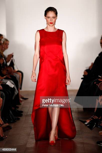 Model Coco Rocha walks the runway at the Zac Posen fashion show during MercedesBenz Fashion Week Spring 2015 on September 8 2014 in New York City