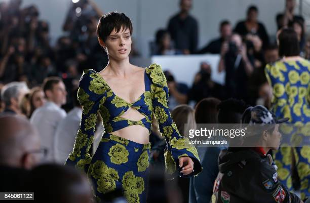 Model Coco Rocha walks the runway during the Christian Siriano collection during the September 2017 New York Fashion Week The Shows at Pier 59 on...