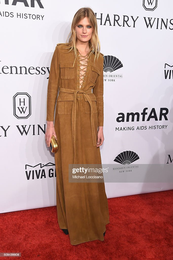 Model <a gi-track='captionPersonalityLinkClicked' href=/galleries/search?phrase=Constance+Jablonski&family=editorial&specificpeople=5550150 ng-click='$event.stopPropagation()'>Constance Jablonski</a> attends 2016 amfAR New York Gala at Cipriani Wall Street on February 10, 2016 in New York City.
