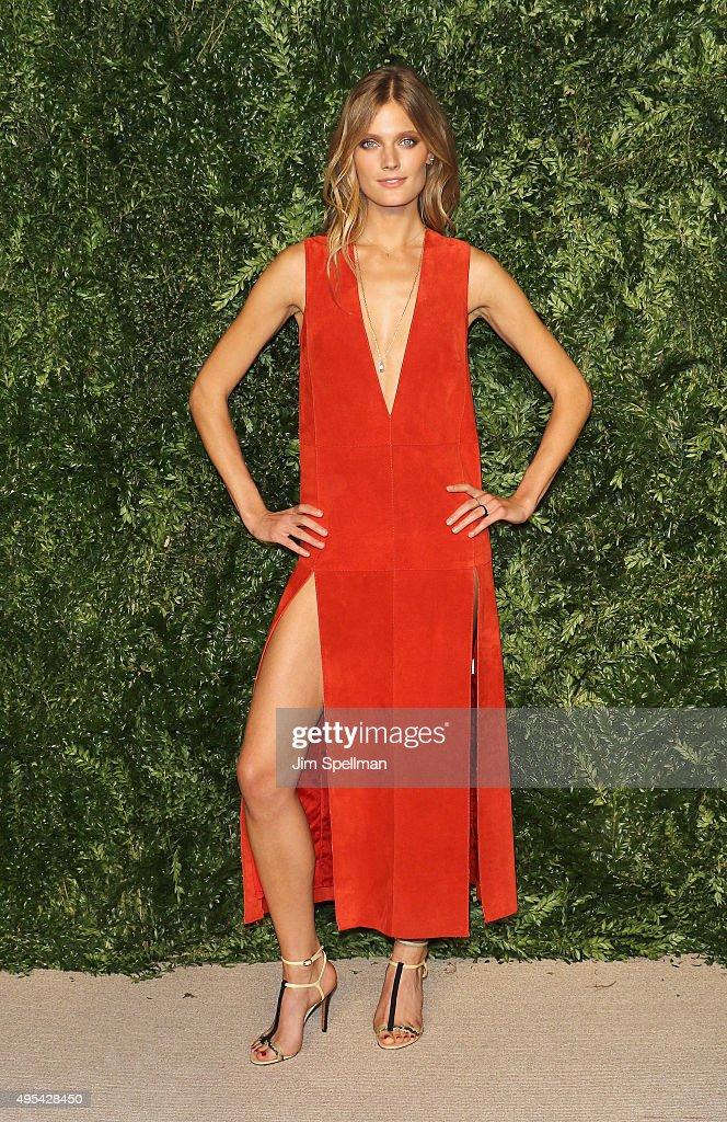 Model Constance Jablonski attends the 12th annual CFDA/Vogue Fashion Fund Awards at Spring Studios on November 2, 2015 in New York City.