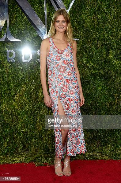 Model Constance Jablonski attends the 2015 Tony Awards at Radio City Music Hall on June 7 2015 in New York City