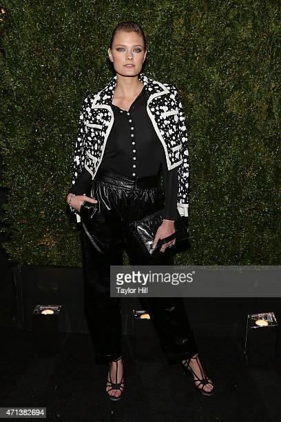 Model Constance Jablonski attends the 2015 Tribeca Film Festival Chanel Artists' Dinner at Balthazar on April 20 2015 in New York City