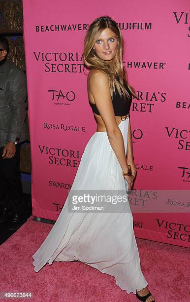 Model Constance Jablonski attends the 2015 Victoria's Secret Fashion Show after party at TAO Downtown on November 10 2015 in New York City