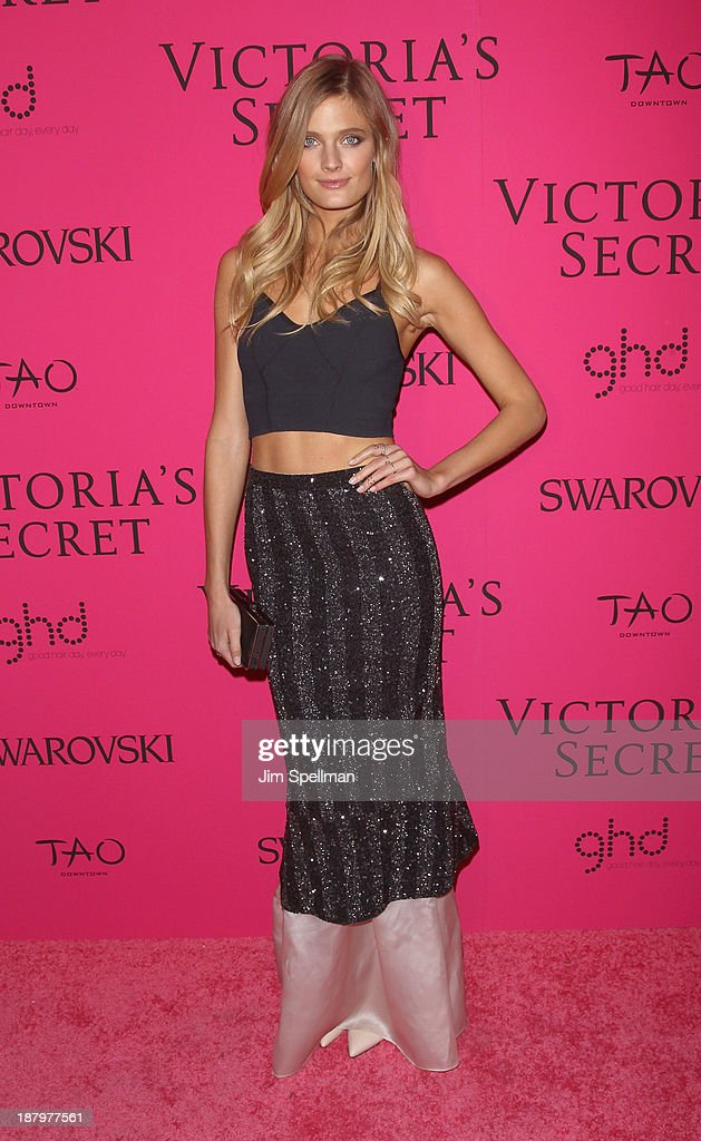 Model <a gi-track='captionPersonalityLinkClicked' href=/galleries/search?phrase=Constance+Jablonski&family=editorial&specificpeople=5550150 ng-click='$event.stopPropagation()'>Constance Jablonski</a> attends the after party for the 2013 Victoria's Secret Fashion Show at TAO Downtown on November 13, 2013 in New York City.