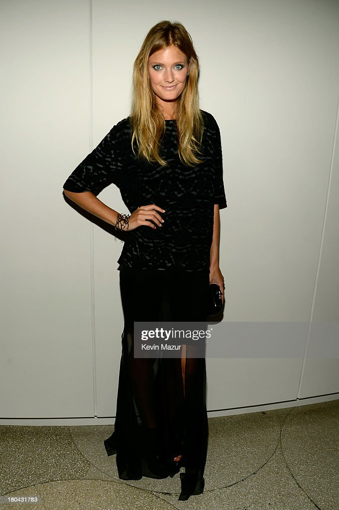 Model <a gi-track='captionPersonalityLinkClicked' href=/galleries/search?phrase=Constance+Jablonski&family=editorial&specificpeople=5550150 ng-click='$event.stopPropagation()'>Constance Jablonski</a> attends the Estee Lauder 'Modern Muse' Fragrance Launch Party at the Guggenheim Museum on September 12, 2013 in New York City.