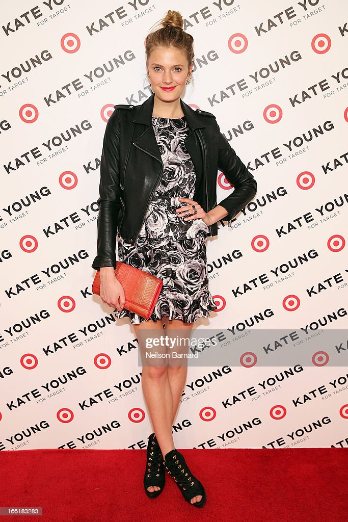 Model Constance Jablonski attends the Kate Young for Target launch event on April 9, 2013 in New York City.
