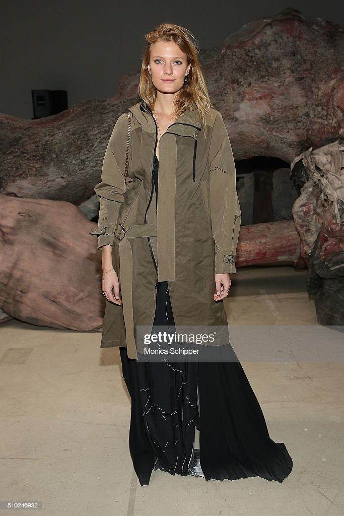 Model <a gi-track='captionPersonalityLinkClicked' href=/galleries/search?phrase=Constance+Jablonski&family=editorial&specificpeople=5550150 ng-click='$event.stopPropagation()'>Constance Jablonski</a> attends the Public School Fall 2016 fashion show during New York Fashion Week on February 14, 2016 in New York City.