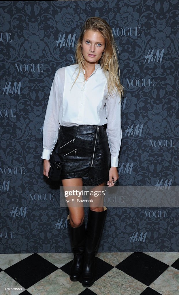 Model Constance Jablonski wearing H&M attends H&M & Vogue Studios Celebrate 'Between The Shows' on September 6, 2013 in New York City.