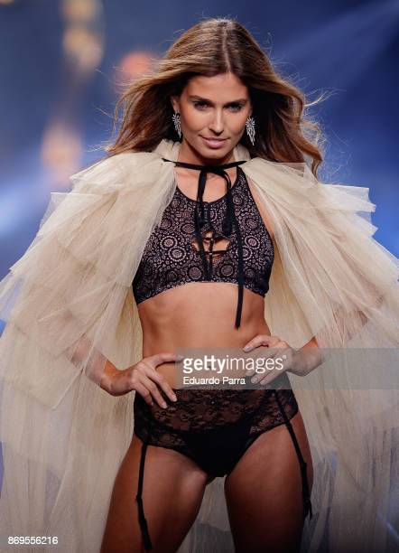 Model Coral Simanovich walks the runaway during the 'Wanted' By Women'Secret' campaign presentation at La Riviera disco on November 2 2017 in Madrid...