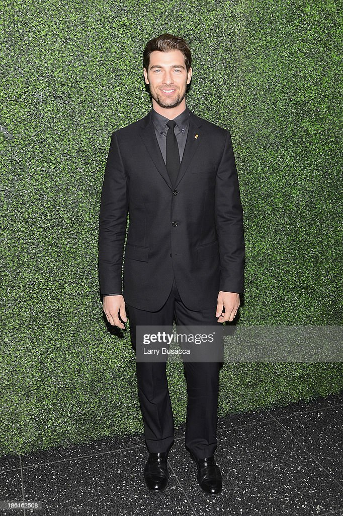 Model Cory Bond arrives as Ralph Lauren Presents Exclusive Screening Of Hitchcock's To Catch A Thief Celebrating The Princess Grace Foundation at MoMA on October 28, 2013 in New York City.