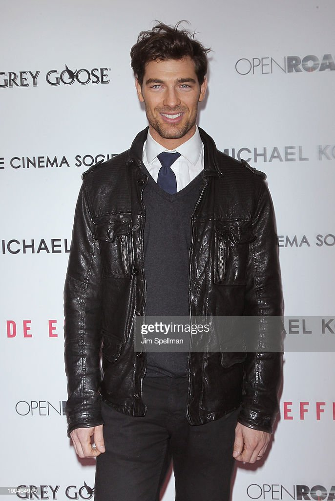 Model Cory Bond attends the Open Road With The Cinema Society And Michael Kors Host The Premiere Of 'Side Effects' at AMC Lincoln Square Theater on January 31, 2013 in New York City.