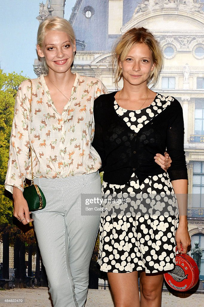Model Cory Kennedy (L) and Annabelle Dexter Jones attend the Maison Jules Presentation during Mercedes-Benz Fashion Week Spring 2015 at Art Beam on September 2, 2014 in New York City.