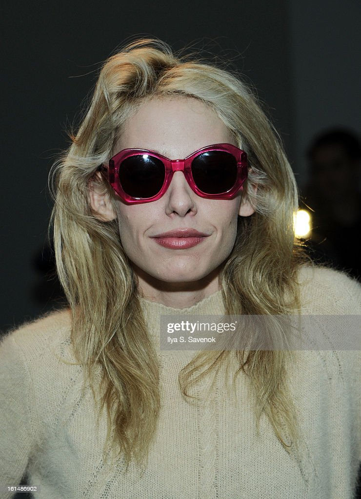 Model Cory Kennedy attends the Karen Walker fall 2013 fashion show during Mercedes-Benz FAshion Week at Pier 59 on February 11, 2013 in New York City.