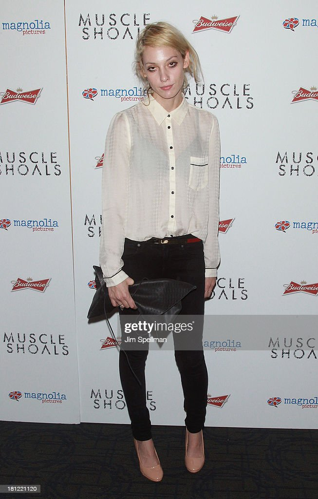 Model Cory Kennedy attends the 'Muscle Shoals' New York Premiere at Landmark's Sunshine Cinema on September 19, 2013 in New York City.