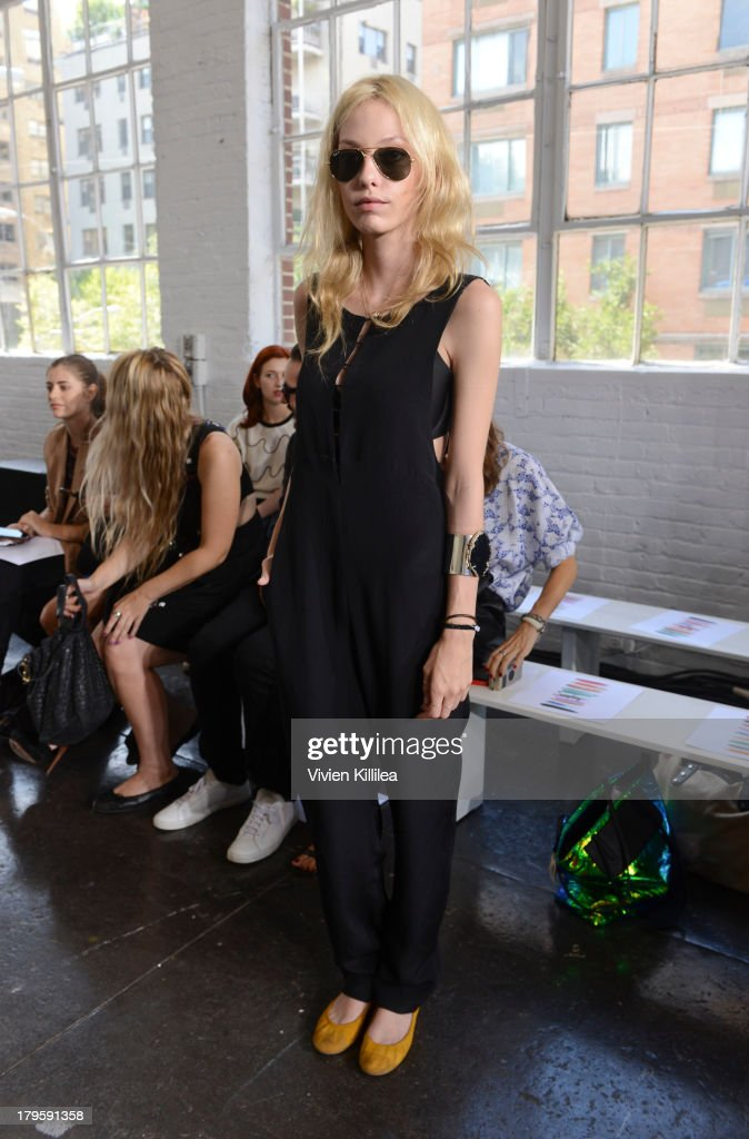 Model Cory Kennedy attends the Tanya Taylor fashion show during Mercedes-Benz Fashion Week Spring 2014 at Industria Studios on September 5, 2013 in New York City.