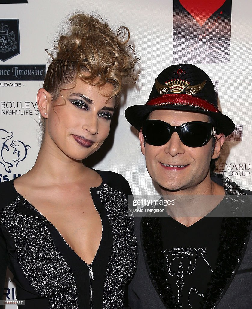 Model Courtney Anne (L) and actor <a gi-track='captionPersonalityLinkClicked' href=/galleries/search?phrase=Corey+Feldman&family=editorial&specificpeople=175941 ng-click='$event.stopPropagation()'>Corey Feldman</a> attend '30 Years of Music, Art & Fashion' benefiting Miller Children's Hospital at The Attic on April 30, 2014 in Los Angeles, California.
