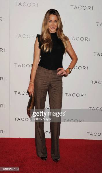 Model Courtney Bingham arrives at Tacori Productions New 'City Lights' Fall/Winter 2012 Collection Launch Party at The Lot on October 9 2012 in West...
