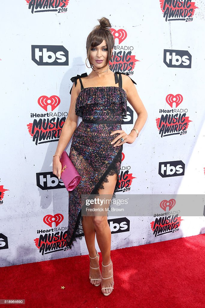 Model Courtney Bingham attends the iHeartRadio Music Awards at The Forum on April 3 2016 in Inglewood California