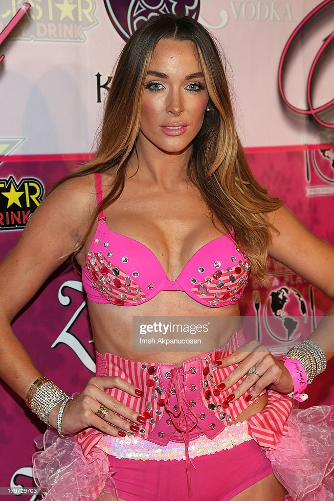 Model Courtney Binghm attends the 8th Annual Kandyland - An Evening Of Decadent Dreams on August 17, 2013 in Beverly Hills, California.