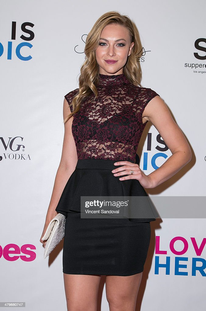Model Courtney Hope Turner attends the Unlikely Heroes red carpet spring benefit at SupperClub Los Angeles on March 20, 2014 in Los Angeles, California.
