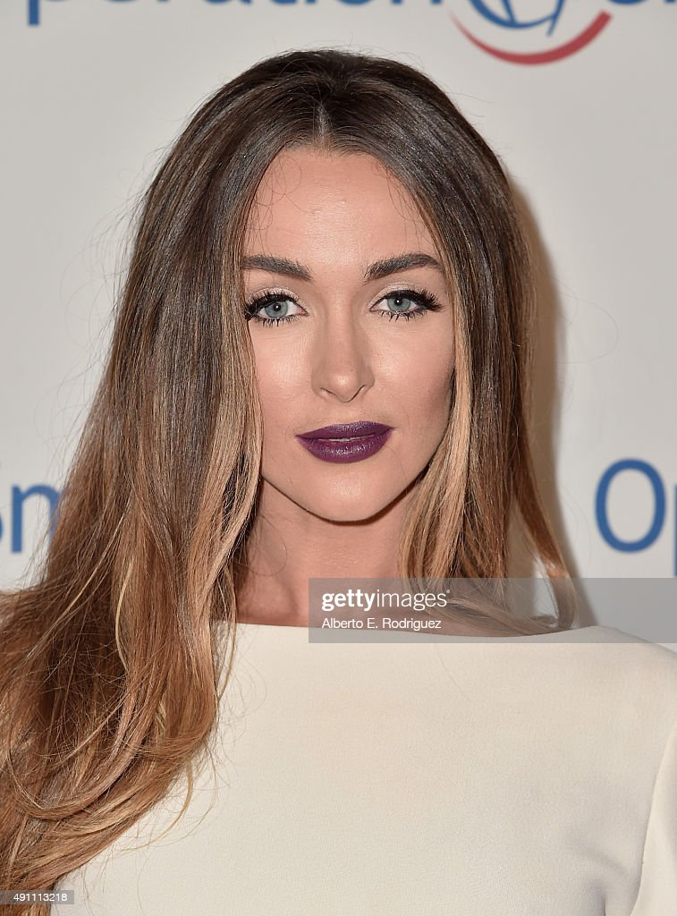 Model Courtney Sixx attends Operation Smile's 2015 Smile Gala at the Beverly Wilshire Four Seasons Hotel on October 2 2015 in Beverly Hills California