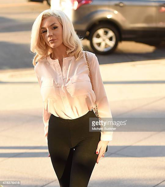 Model Courtney Stodden attends the world premiere of 'UNITY' at the DGA Theater on June 24 2015 in Los Angeles California
