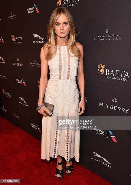 Model Cressida Bonas attends the BAFTA Los Angeles Tea Party at The Four Seasons Hotel Los Angeles At Beverly Hills on January 10 2015 in Beverly...