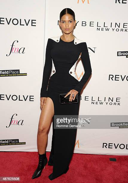 Model Cris Urena attends The Daily Front Row's Third Annual Fashion Media Awards at the Park Hyatt New York on September 10 2015 in New York City