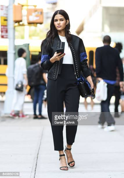 Model Cris Urena is seen outside the 31 Phillip Lim show show during New York Fashion Week Women's S/S 2018 on September 11 2017 in New York City