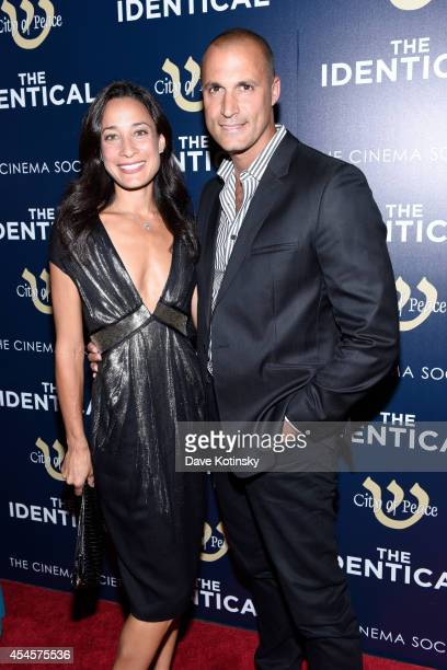 Model Cristen Barker and Nigel Barker attend City Of Peace Films With The Cinema Society Host The World Premiere Of 'The Identical' at SVA Theater on...