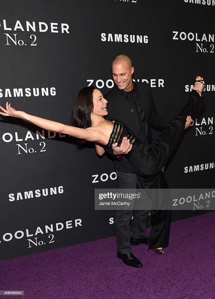 Model Cristen Barker and Nigel Barker attend the 'Zoolander 2' World Premiere at Alice Tully Hall on February 9 2016 in New York City
