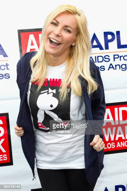 Model Crystal Hefner attends the 29th Annual AIDS Walk LA on October 13 2013 in West Hollywood California