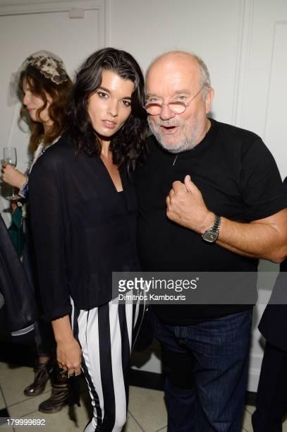 Model Crystal Renn and photographer Peter Lindbergh attend the Peter Lindbergh Artist reception presented by Vladimir Restoin Roitfeldon September 7...