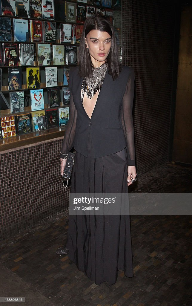 Model Crystal Renn attends Sony Pictures Classics' 'Only Lovers Left Alive' screening hosted by The Cinema Society and Stefano Tonchi, Editor in Chief of W Magazine at Landmark's Sunshine Cinema on March 12, 2014 in New York City.
