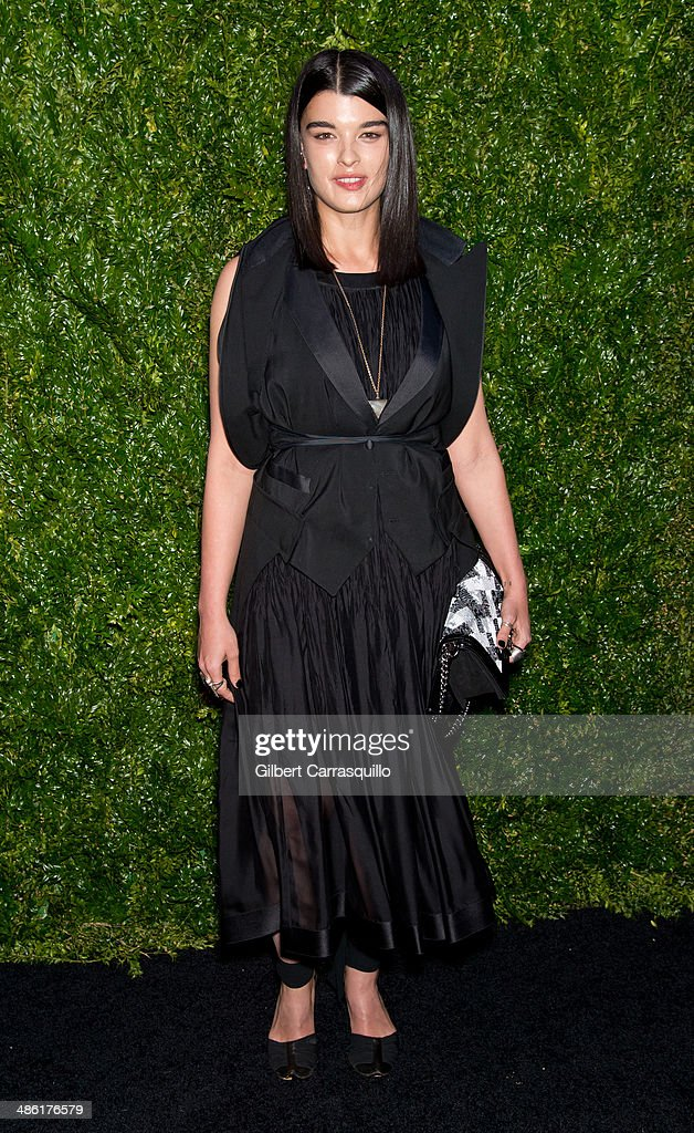 Model Crystal Renn attends the 9th annual Chanel Artists Dinner during the 2014 Tribeca Film Festival at Balthazar on April 22, 2014 in New York, New York.