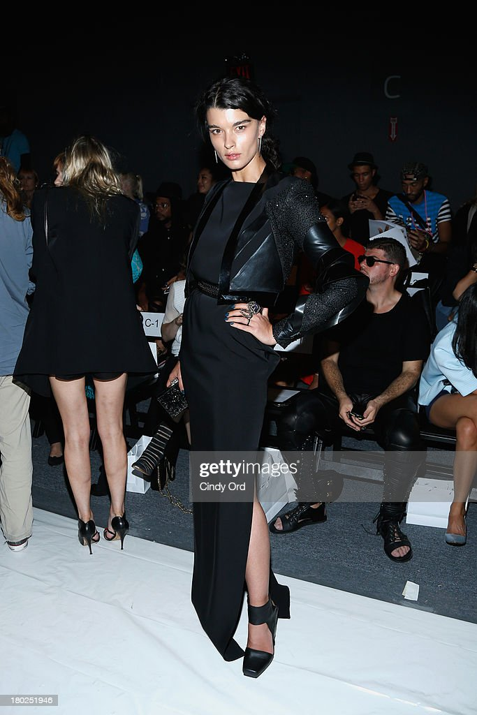Model <a gi-track='captionPersonalityLinkClicked' href=/galleries/search?phrase=Crystal+Renn&family=editorial&specificpeople=2216376 ng-click='$event.stopPropagation()'>Crystal Renn</a> attends the Alon Livne fashion show during Mercedes-Benz Fashion Week Spring 2014 at The Studio at Lincoln Center on September 10, 2013 in New York City.