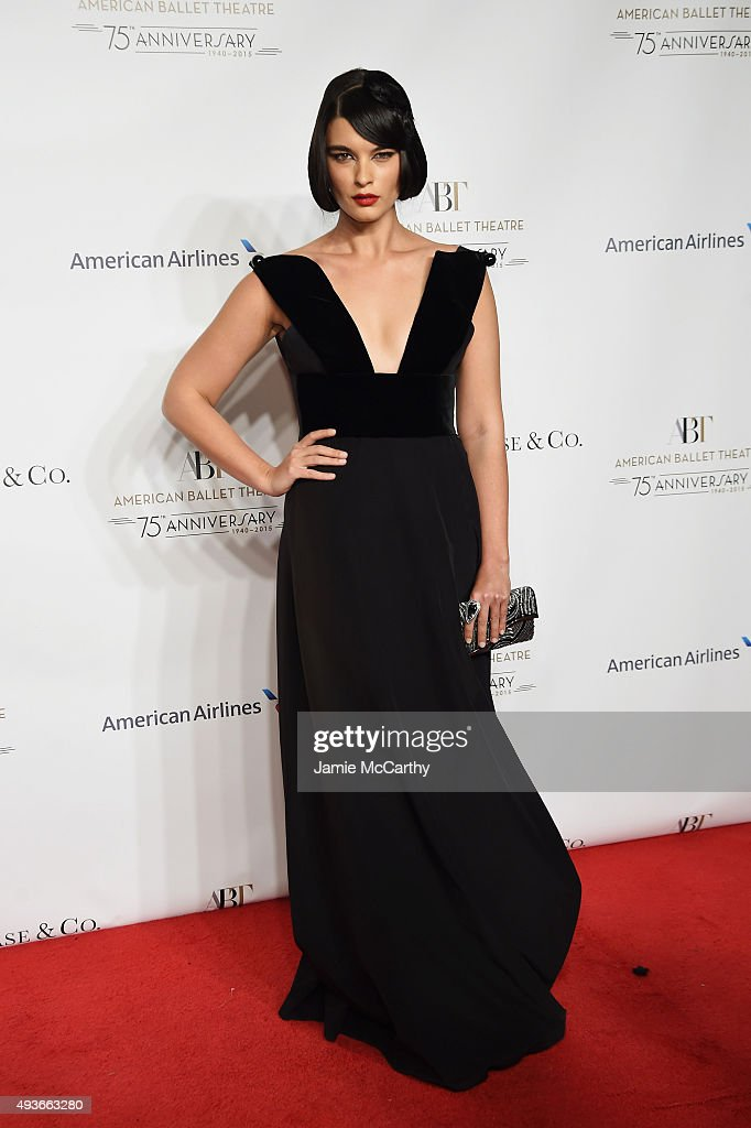 Model Crystal Renn attends the American Ballet 75th Anniversary Fall Gala at David H. Koch Theater at Lincoln Center on October 21, 2015 in New York City.