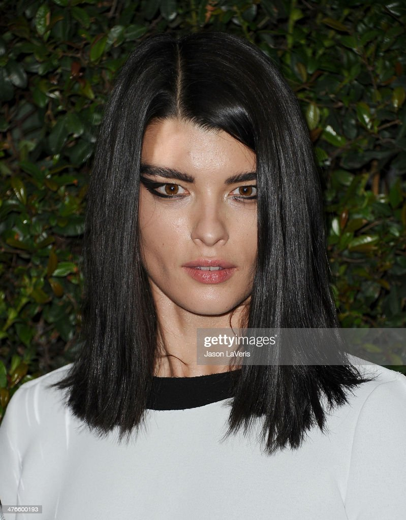 Model Crystal Renn attends the Chanel and Charles Finch pre-Oscar dinner at Madeo Restaurant on March 1, 2014 in Los Angeles, California.