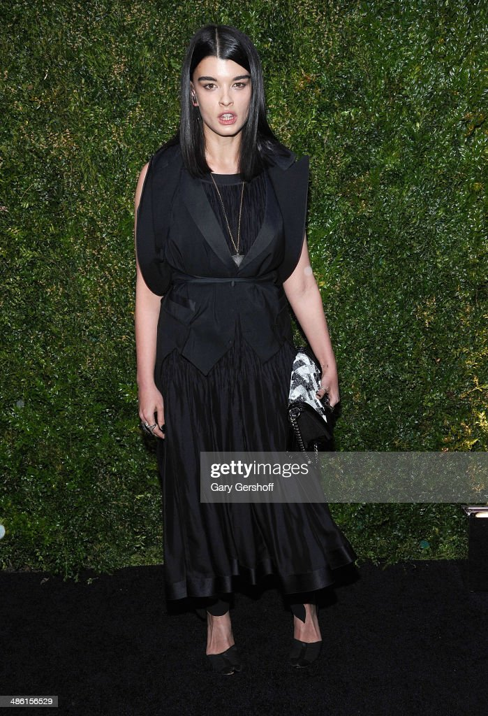 Model <a gi-track='captionPersonalityLinkClicked' href=/galleries/search?phrase=Crystal+Renn&family=editorial&specificpeople=2216376 ng-click='$event.stopPropagation()'>Crystal Renn</a> attends the Chanel Tribeca Film Festival Artist Dinner at Balthazer on April 22, 2014 in New York City.