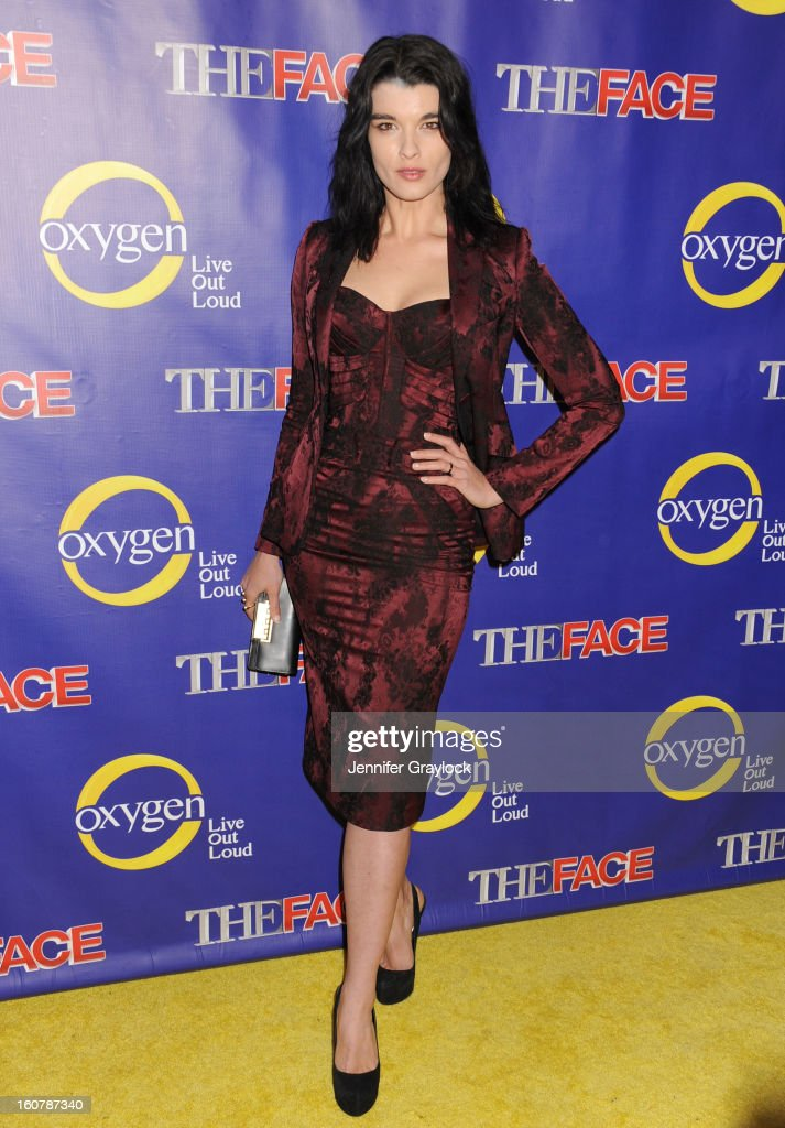Model Crystal Renn attends 'The Face' Series Premiere at Marquee New York on February 5, 2013 in New York City.