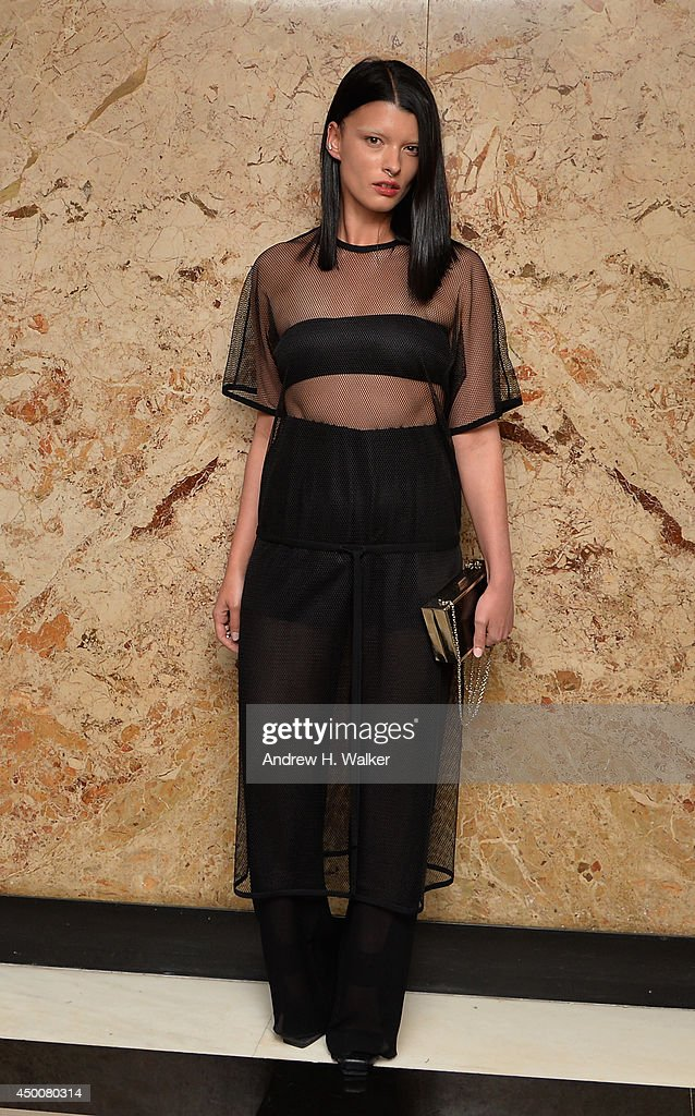 Model Crystal Renn attends the Gucci beauty launch event hosted by Frida Giannini on June 4, 2014 in New York City.