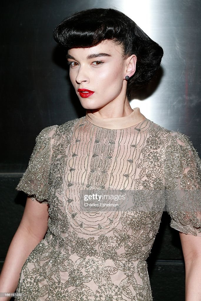 Model Crystal Renn attends the New Yorker's For Children's 10th Anniversary A Fool's Fete Spring Dance at Mandarin Oriental Hotel on April 9, 2013 in New York City.
