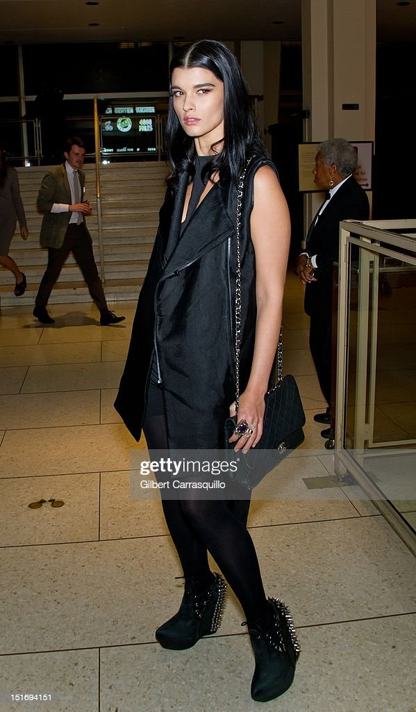 Model Crystal Renn is seen around Lincoln Center during Spring 2013 Mercedes-Benz Fashion Week on September 9, 2012 in New York City.
