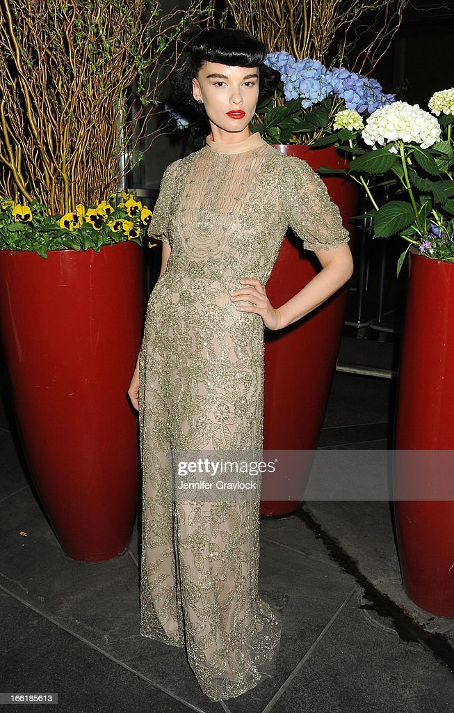 Model Crystal Renn wearing Valentino attends the New Yorkers for Children 10th Anniversary Spring Dinner Dance New Year's in April: A Fool's Fete to benefit youth in foster care presented by Valentino at Mandarin Oriental Hotel on April 9, 2013 in New York City.