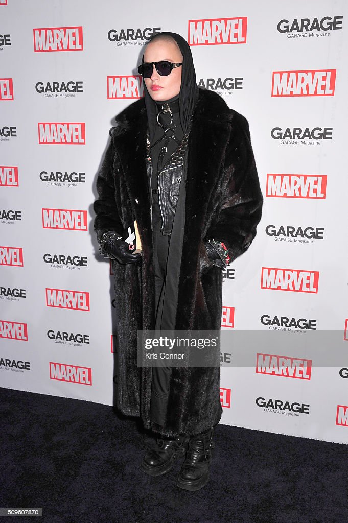 Model Cuba Tornado Scott attends the Marvel and Garage Magazine New York Fashion Week Event on February 11, 2016 in New York City.